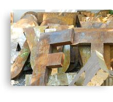 Alphabet Junk Yard  Canvas Print