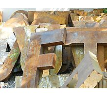 Alphabet Junk Yard  Photographic Print