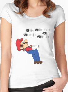 Mario Matrix. Women's Fitted Scoop T-Shirt