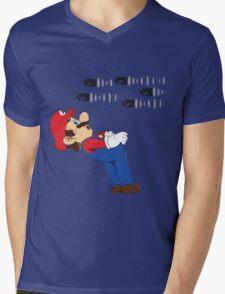 Mario Matrix. Mens V-Neck T-Shirt