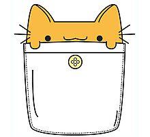 Pocket Cat - Orange Photographic Print