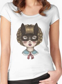 Ceremony - Masked Bunny lass Women's Fitted Scoop T-Shirt