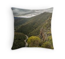 Leven Canyon from Cruikshanks Lookout viewing North Throw Pillow
