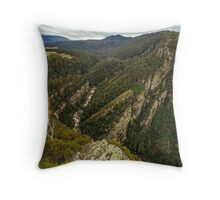 Leven Canyon from Cruikshanks Lookout viewing South Throw Pillow