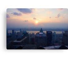 Sunset in Manhattan Canvas Print