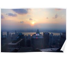 Sunset in Manhattan Poster