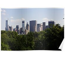Manhattan Skyline - Central Park Poster