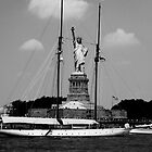 Statue of Liberty - Black and White by JordanDefty
