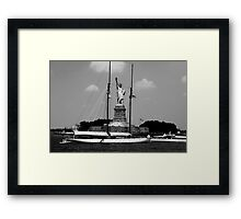 Statue of Liberty - Black and White Framed Print