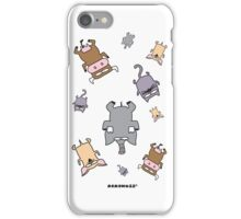 Raining cats and dogs and cows and elephants iPhone Case/Skin