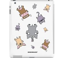 Raining cats and dogs and cows and elephants iPad Case/Skin