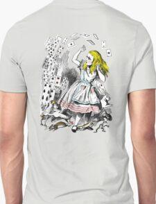 Vintage Alice in Wonderland Card Attack Unisex T-Shirt