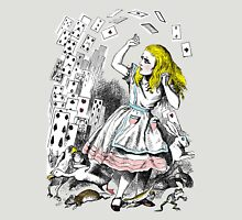 Vintage Alice in Wonderland Card Attack Womens Fitted T-Shirt