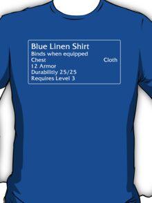 Blue Linen Shirt T-Shirt