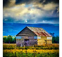 Meander Valley Shed Photographic Print