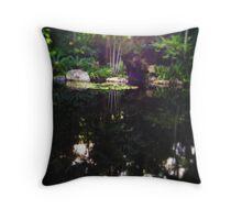 Lagoon Refelctions Throw Pillow