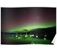 Aurora Australis at Port Huon, Tasmania #5 Poster