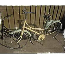 1950'S MOPED BICYCLE/PARIS Photographic Print