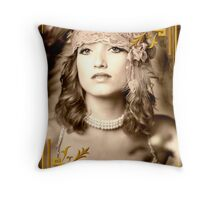 Great Gatsby Gold Throw Pillow