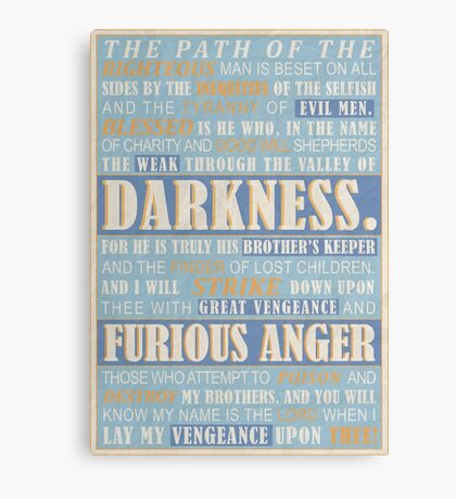 Pulp Fiction: Ezekiel 25:17 Canvas Print