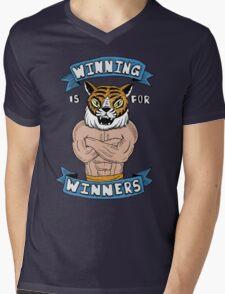 Tiger Man Always Winning Mens V-Neck T-Shirt
