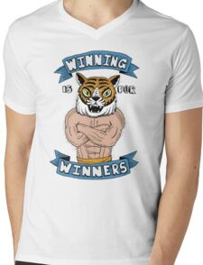 Tiger Man Always Winning Mens V-Neck T-Shirt