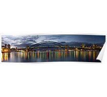 Nightime Reflections - Sydney Harbour - The HDR Experience Poster
