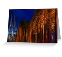 The Cathedral and a Bridge in motion Greeting Card