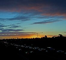 Freeway Sunset by rjpmcmahon