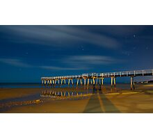 Moonlight at Scarness.... Photographic Print