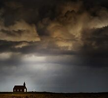 Storm light on Kirkja by Karen Scrimes