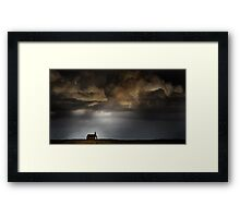 Storm light on Kirkja Framed Print