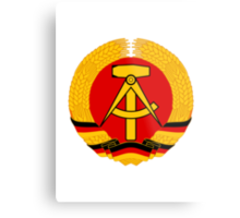 German Democratic Republic Emblem Metal Print