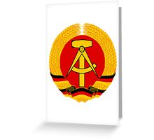 German Democratic Republic Emblem Greeting Card
