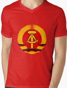 German Democratic Republic Emblem Mens V-Neck T-Shirt
