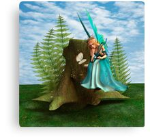 Fairy and Butterfly Canvas Print