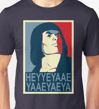 He-Man Heyyeyaaeyaaaeyaeyaa In Obama Hope Style Unisex T-Shirt