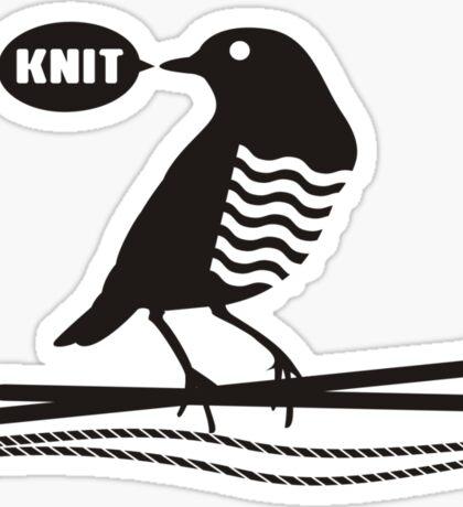 Talking bird knitting needles yarn Sticker