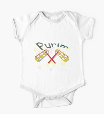 Happy joyous Purim  One Piece - Short Sleeve