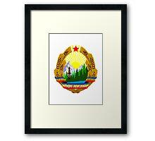 Socialist Romania Emblem Framed Print