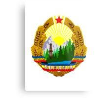 Socialist Romania Emblem Metal Print