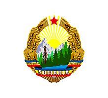Socialist Romania Emblem Photographic Print