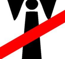 Anti-Tie Symbol Sticker