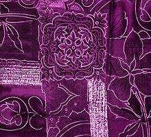 Patchwork, Flowers, Petals, Swirls - Purple by sitnica