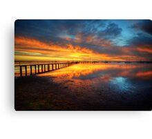 Corio Bay Sunrise HDR Canvas Print