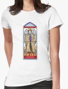 Castiel Stained Glass Womens Fitted T-Shirt