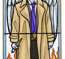 Castiel Stained Glass Sticker