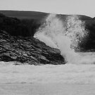 Angry Sea. B&W, Clachtoll, Highlands by Sue Fallon Photography