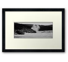 Angry Sea. B&W, Clachtoll, Highlands Framed Print