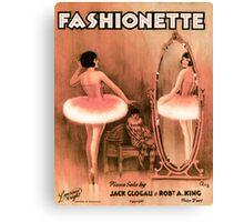 FASHIONETTE  (vintage illustration) Canvas Print